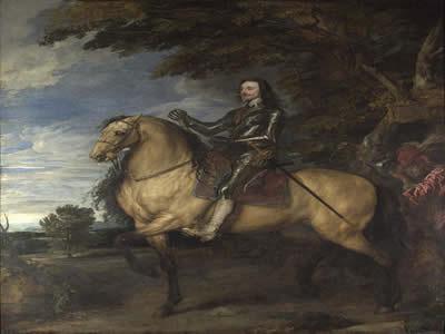 Retrato equestre de Carlos I, feito por Anthonis van Dyck (1599-1641).*