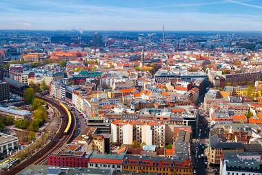 Vista aérea da cidade de Berlim, Alemanha