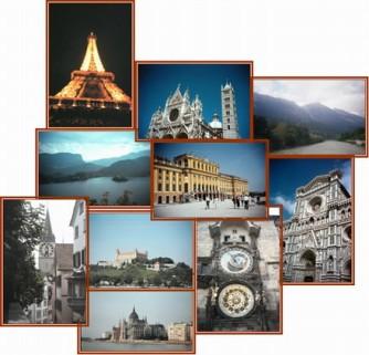 Algumas paisagens culturais do continente europeu.
