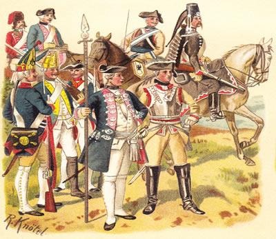 A militarização foi uma das principais características do Absolutismo na Prússia