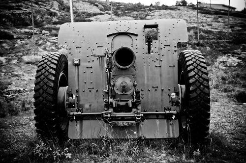 Canhão alemão utilizado durante a campanha de invasão da Noruega em 1940
