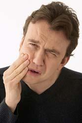 As terminações nervosas dos dentes provocam a sensação de dor.