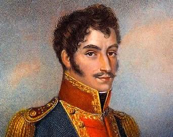 Bolívar, grande líder das independências americanas.
