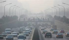 Smog: neblina de poluição.