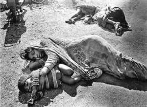 Vítimas do acidente de Bhopal.