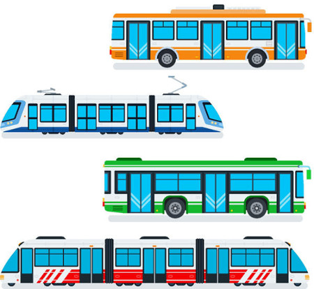 O VLT e o BRT são modais de transporte coletivo urbano com características distintas