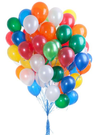 O Hélio é um gás nobre utilizado para encher balões de festa