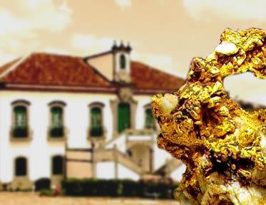 As casas de fundição integravam o sistema de fiscalização e a cobrança da Coroa Portuguesa.