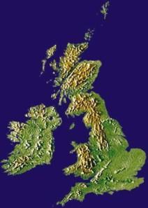Conjunto de ilhas Britânicas.