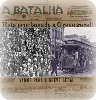 Greve geral operária. Jornal A Batalha. nº1.139.