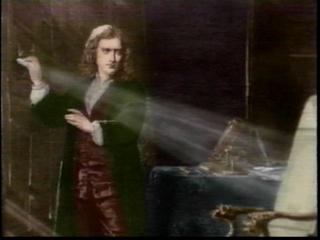Newton e a experiência da dispersão da luz.