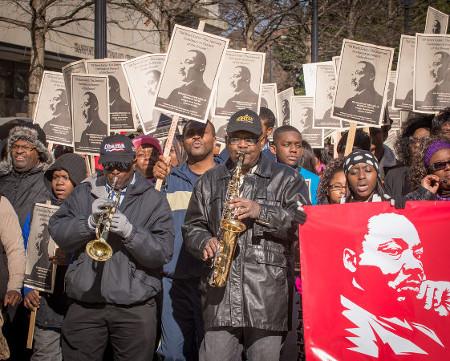 Manifestação pelos direitos civis dos negros nos EUA*