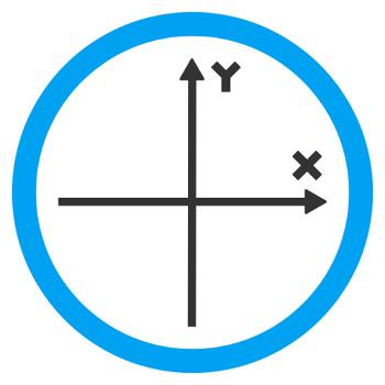 O plano cartesiano é formado por dois eixos, um horizontal e outro vertical