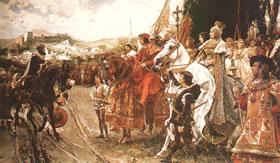 A Guerra de Reconquista, episódio fundamental na formação dos estados ibéricos.
