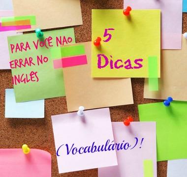 Cinco dicas para você não errar no inglês