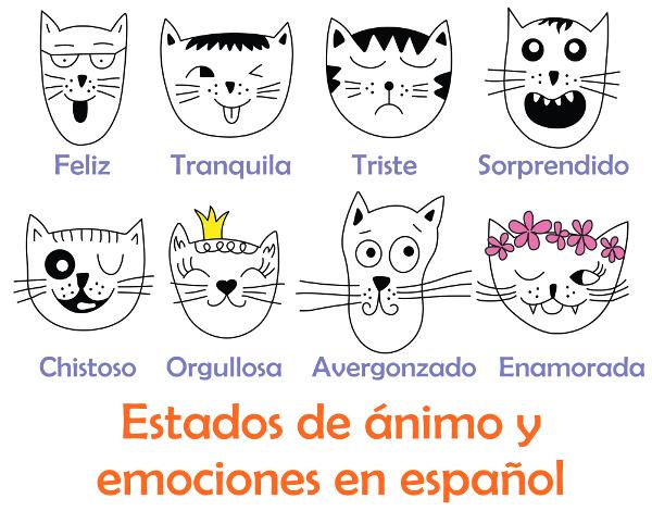 Emoções e estados de ânimo em Espanhol