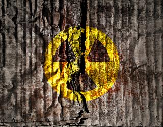 Símbolo de presença de radiação em valores acima dos encontrados naturalmente no meio ambiente