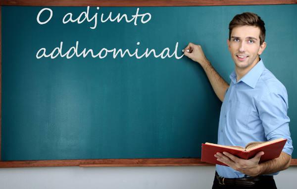 O adjunto adjunto adnominal aparece associado a um substantivo