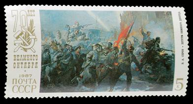 Com o assalto ao Palácio de Inverno, em outubro de 1917, teve fim o Governo Provisório instituído em fevereiro de 1917 na Rússia.*
