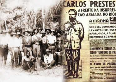 A Coluna Prestes resistiu à perseguição das autoridades oficiais durante três anos.