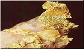 Metal ouro antes de ser extraído.
