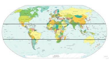 Localização dos trópicos de Câncer e Capricórnio