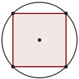 As relações métricas possibilitam calcular lado e apótema do quadrado inscrito usando o raio da circunferência