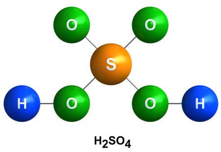 O ácido sulfúrico pode ser obtido a partir de reações com óxidos ácidos