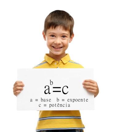 Os elementos da potenciação são: base, expoente e potência