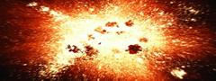 A teoria do Big Bang (ou Grande Explosão) explica a origem do universo.