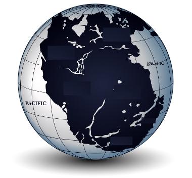 De acordo com a teoria da Deriva Continental, no passado havia só um continente:  Pangeia