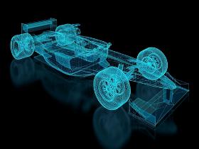 A aerodinâmica é aplicada em carros de corridas