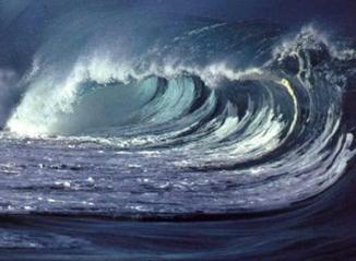 As ondas são movimentos das águas oceânicas provocados pela ação do vento.
