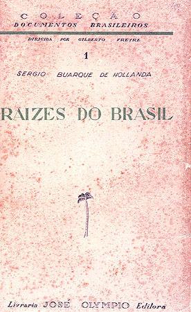"""Capa da primeira edição da obra """"Raízes do Brasil"""" (José Olympio, 1936), de Sérgio Buarque de Holanda"""