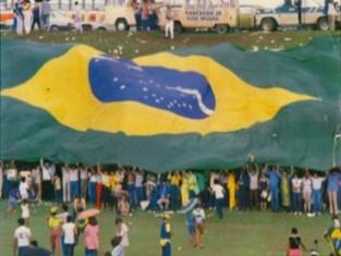"""""""Diretas Já!"""": movimento pela redemocratização do país."""