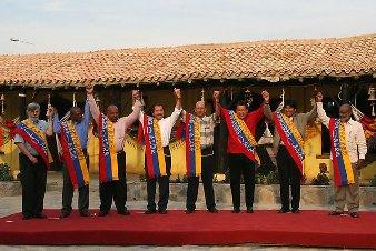 Líderes de países que compõem a ALBA.