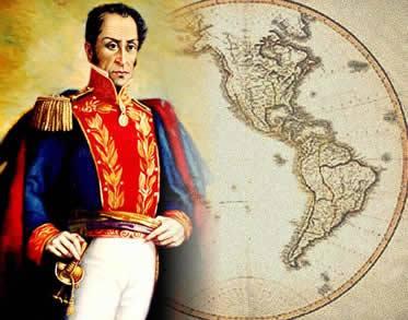 Simón Bolívar: proposta de integração entre as recém-formadas nações americanas.