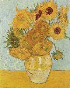 Doze girassóis numa jarra. Tela de Vincent Van Gogh.
