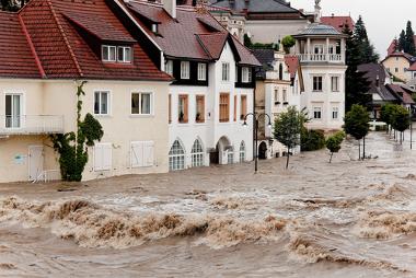 Registro da ocorrência de enchentes no espaço urbano