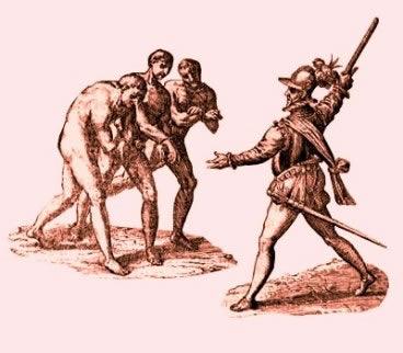 A ação dos espanhóis sobre a população indígena.