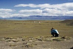 Área da Patagônia argentina coberta pela vegetação do tipo estepe.