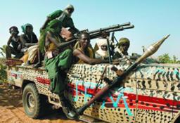 Guerrilheiros sudanenses armados