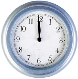 Os ponteiros do relógio descrevem um movimento angular