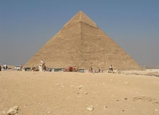 Pirâmide, um dos símbolos do Egito.