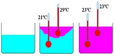Medindo a temperatura de duas substâncias