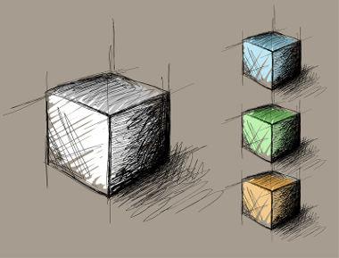 Os cubos são prismas, e os seus volumes são determinados pelo produto da área da base pela altura