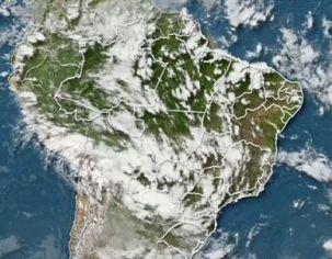 Imagens de satélite importante na previsão do tempo.