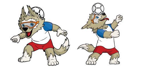O nome Zabivaka significa 'aquele que marca o gol' em russo