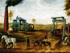 A máquina a vapor aumentou a produção de carvão