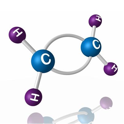 No caso dos hidrocarbonetos, o processo de oxidação branda só ocorre em compostos que apresentam insaturação, como esse etileno